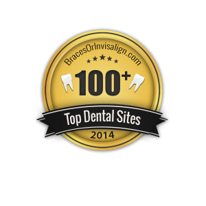 BracesOrInvisalign Top 100 Plus Dental Sites Badge