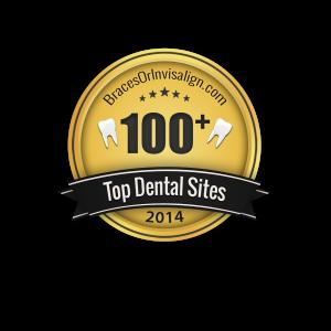 BracesOrInvisalign Top 100 Plus Dental Sites Badge
